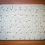 Куклы и игрушки ручной работы. Ярмарка Мастеров - ручная работа Алфавит-вкладыш из фанеры с буквами и цифрами.. Handmade.