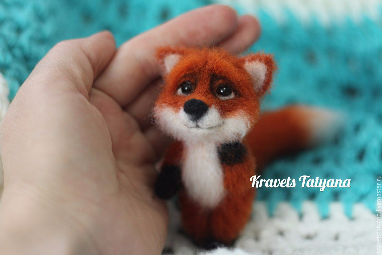 Copyright felted toy Fox Jack, Felted Toy, Kuragino,  Фото №1