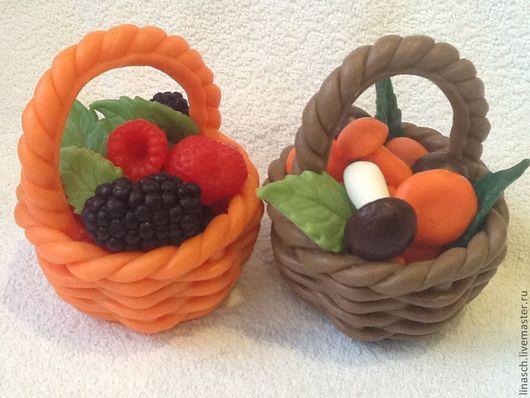 Мыло ручной работы. Ярмарка Мастеров - ручная работа. Купить Корзинка с фруктами или грибами. Handmade. Кремовый, ягоды