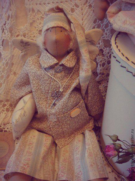 Куклы Тильды ручной работы. Ярмарка Мастеров - ручная работа. Купить Сплюшкав стиле Тильда.Ангел снов.. Handmade. Бежевый