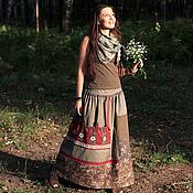 Одежда ручной работы. Ярмарка Мастеров - ручная работа юбка ТРАВНИЦА. Handmade.