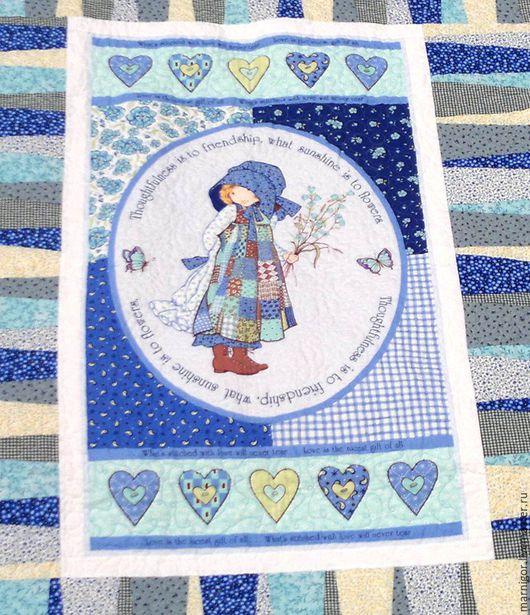 Пледы и одеяла ручной работы. Ярмарка Мастеров - ручная работа. Купить Детское лоскутное одеяло Маленькая цветочница пэчворк и квилтинг. Handmade.