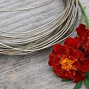 Материалы для творчества handmade. Livemaster - original item 1,5 mm Nickel silver wire. Handmade.