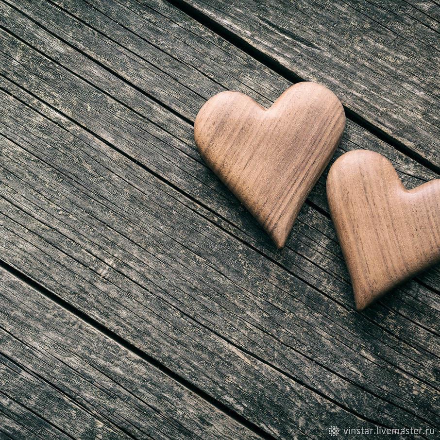 Фотофон виниловый Деревянные сердца, Фото, Курск,  Фото №1