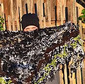 """Аксессуары ручной работы. Ярмарка Мастеров - ручная работа Шаль """"Прогулка по Лесу"""" (в технике crazy wool). Handmade."""