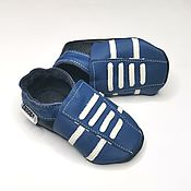 Одежда детская handmade. Livemaster - original item Blue baby shoes, Leather Baby shoes,Baby Sneakers,Ebooba. Handmade.