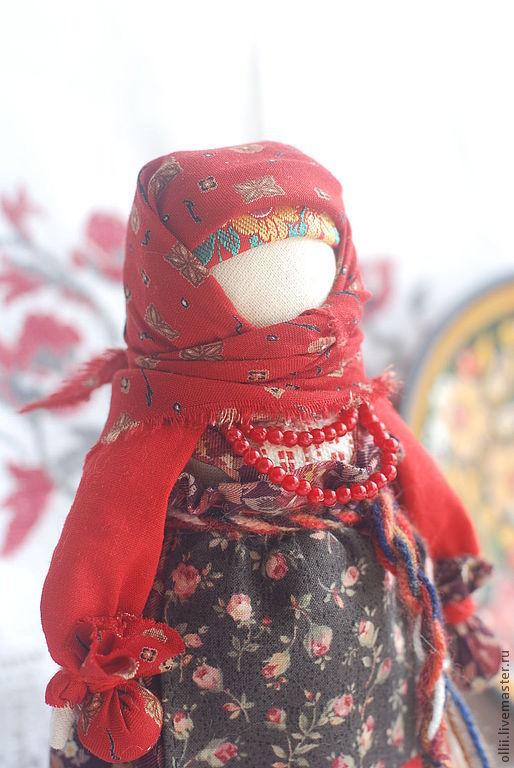 """Народные куклы ручной работы. Ярмарка Мастеров - ручная работа. Купить Кукла Берегиня дома """"Прасковья"""". Handmade. Ярко-красный"""