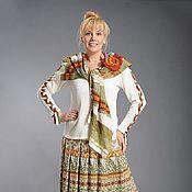 Одежда ручной работы. Ярмарка Мастеров - ручная работа Авторская вязаная юбка 463а. Handmade.