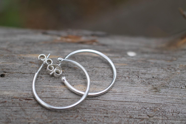 3 см  серьги серебро и, Серьги, Санкт-Петербург, Фото №1