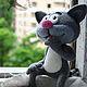 Игрушки животные, ручной работы. Котёнок с улицы Лизюкова (игрушка валяная). Синица-мастерица. Ярмарка Мастеров. Кот, авторская игрушка