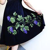 Ручная роспись платье Виноград