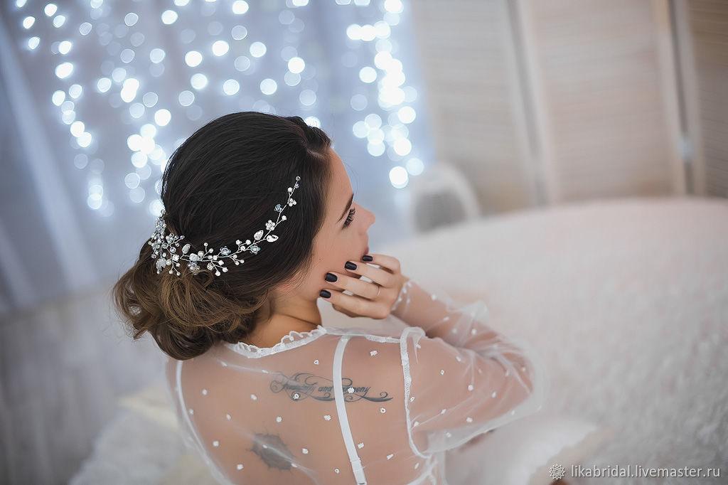 Свадебное украшение на голову, венок для свадебной причёски, тиара, Украшения для причесок, Пермь,  Фото №1