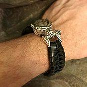 Украшения handmade. Livemaster - original item Bracelet with a bear`s head. Handmade.
