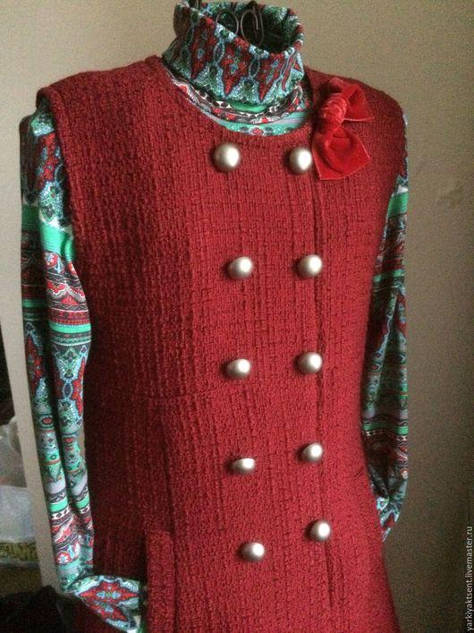 Одежда для девочек, ручной работы. Ярмарка Мастеров - ручная работа. Купить Комплект КСГ 1032. Handmade. Бордовый, школьная одежда