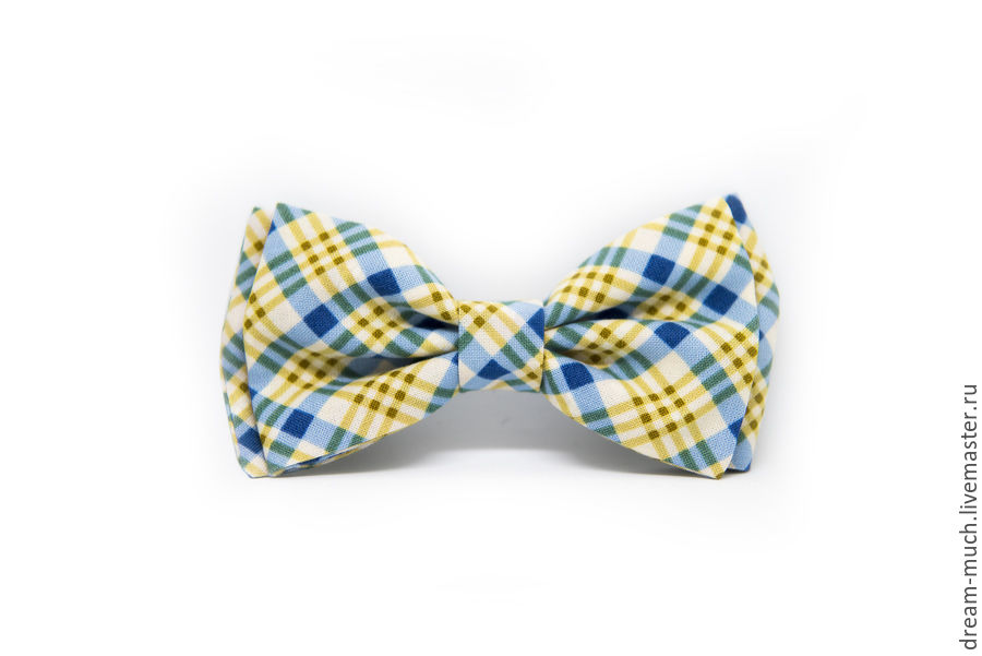 Bow tie blue yellow plaid, Ties, Moscow,  Фото №1