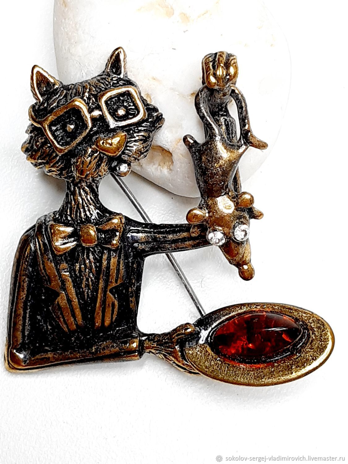 Brooch Cat Magician, Brooches, Moscow,  Фото №1