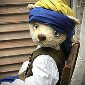 Куклы и игрушки handmade. Livemaster - original item Teddy Animals: Girl with a pearl earring.. Handmade.