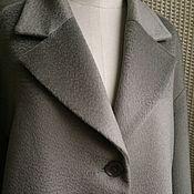 Пальто 2036 кашемир оливковое