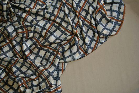 Шитье ручной работы. Ярмарка Мастеров - ручная работа. Купить 100% шелк твиловый BURBERRY. Handmade. Натуральный шелк