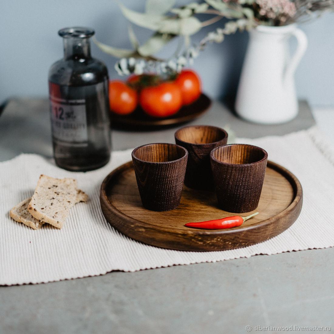 Set of Wooden wine Glasses (3#9, Shot Glasses, Novokuznetsk,  Фото №1