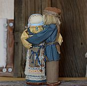 Народная кукла ручной работы. Ярмарка Мастеров - ручная работа Куклы обереги. Неразлучники по мотивам Славянской народной куклы. Handmade.