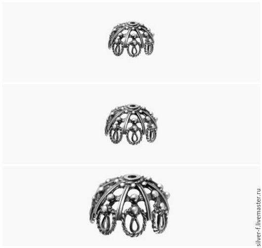 Для украшений ручной работы. Ярмарка Мастеров - ручная работа. Купить Обниматель для бусин №9. Handmade. Серебряный, серебряная фурнитура
