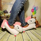 Обувь ручной работы handmade. Livemaster - original item Slippers Unicorns. Handmade.