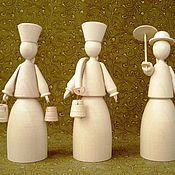 Материалы для творчества ручной работы. Ярмарка Мастеров - ручная работа Куклы,деревянные заготовки-1. Handmade.