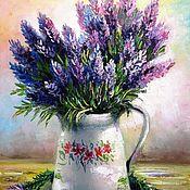 Картины и панно handmade. Livemaster - original item Oil painting on canvas lavender. Handmade.
