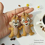 Куклы и игрушки ручной работы. Ярмарка Мастеров - ручная работа Кофейные Спасатели Чип и Дейл. Handmade.