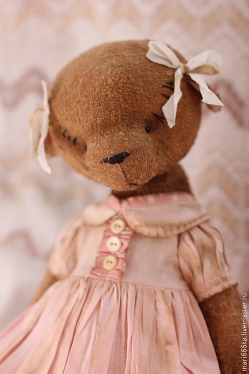 Мишки Тедди ручной работы. Ярмарка Мастеров - ручная работа. Купить Тося.. Handmade. Бежевый, плюш