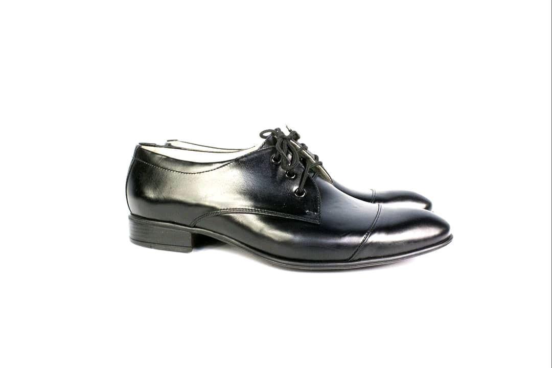 Обувь ручной работы. Ярмарка Мастеров - ручная работа. Купить Туфли мужские, из натуральной кожи  цвет черный. Handmade.