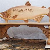 Для дома и интерьера ручной работы. Ярмарка Мастеров - ручная работа Резная скамейка из дерева. Handmade.