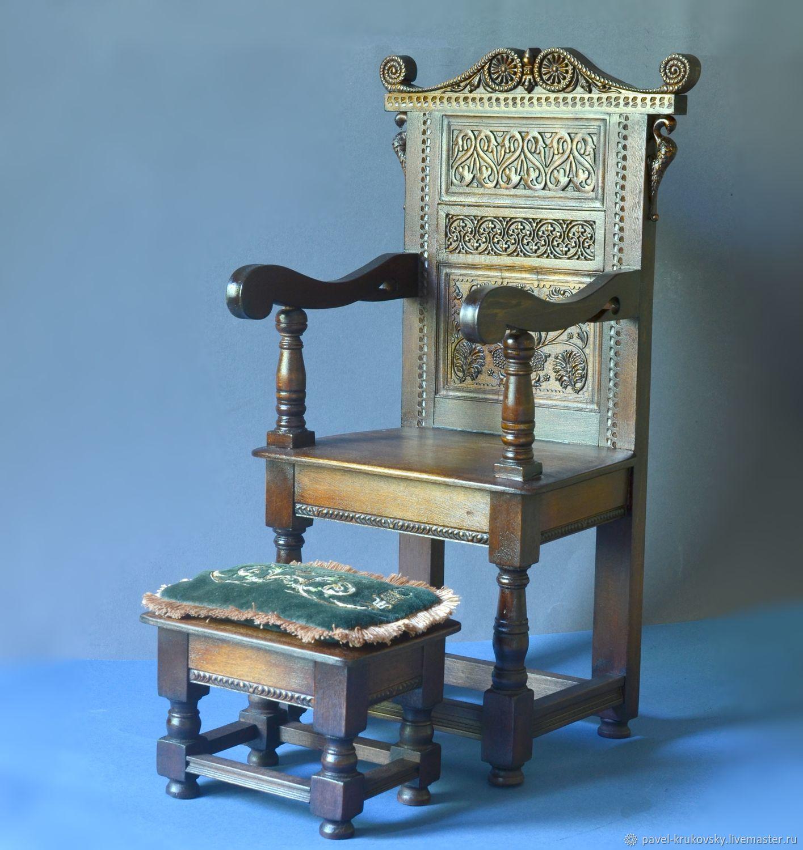 Кресло для кукольного джентльмена, Кукольные домики, Владимир, Фото №1