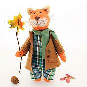 Куклы и игрушки ручной работы. Ярмарка Мастеров - ручная работа Игрушка Кот рыжий, котики мягкие игрушки, осень. Handmade.
