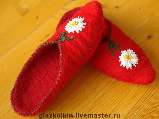 Обувь ручной работы. Ярмарка Мастеров - ручная работа. Купить Домашние тапочки. Handmade. Домашние тапочки, подарок, войлочная обувь