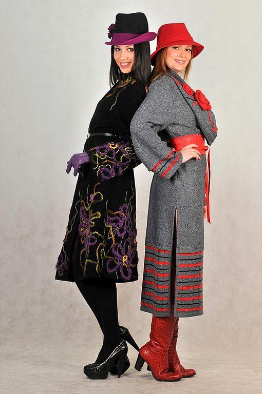 Верхняя одежда ручной работы. Ярмарка Мастеров - ручная работа. Купить Магия контрастов. Авторские вязаные пальто. Handmade. Цветочный