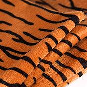 Материалы для творчества ручной работы. Ярмарка Мастеров - ручная работа Ткань Плюш 150 гр/кв.м Тигровый. Handmade.