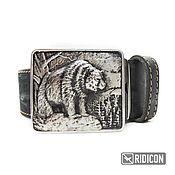 Аксессуары handmade. Livemaster - original item Belt buckle Bear. Handmade.