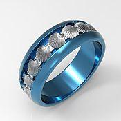 Украшения handmade. Livemaster - original item Titanium ring Silver Shell. Handmade.