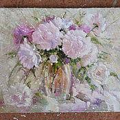 Картины и панно ручной работы. Ярмарка Мастеров - ручная работа Пионы нежные. Handmade.