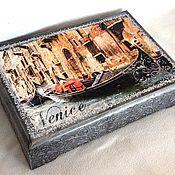 """Для дома и интерьера ручной работы. Ярмарка Мастеров - ручная работа шкатулка для бумаг и украшений """"Венеция"""". Handmade."""