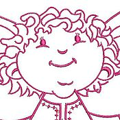 Дизайн и реклама ручной работы. Ярмарка Мастеров - ручная работа ангелочек, ред уорк, дизайн для машинной вышивки. Handmade.