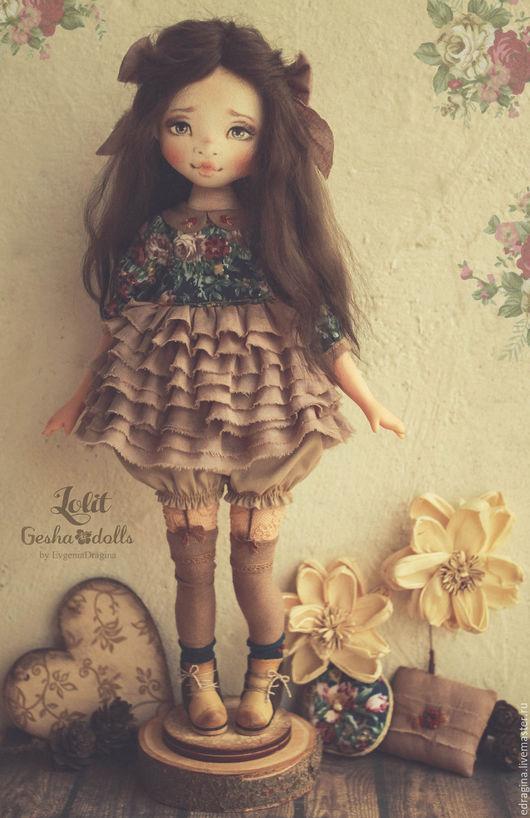 Коллекционные куклы ручной работы. Ярмарка Мастеров - ручная работа. Купить Lolit. Handmade. Морская волна, цветы