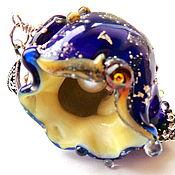Украшения handmade. Livemaster - original item Shell Charming blue. Handmade.
