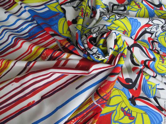 Пластичная, эффектная ткань- подойдет для летних платьев, сарафанов, туник.