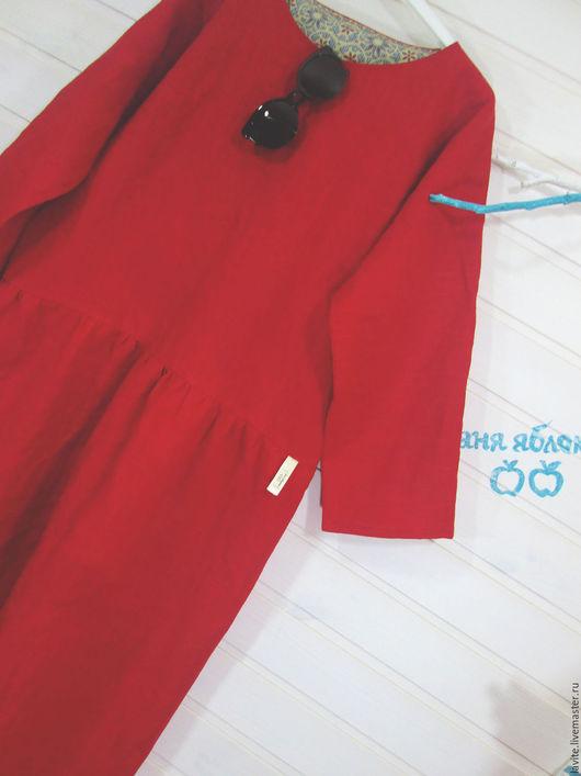 Платья ручной работы. Ярмарка Мастеров - ручная работа. Купить мешок алый. Handmade. Ярко-красный, платье
