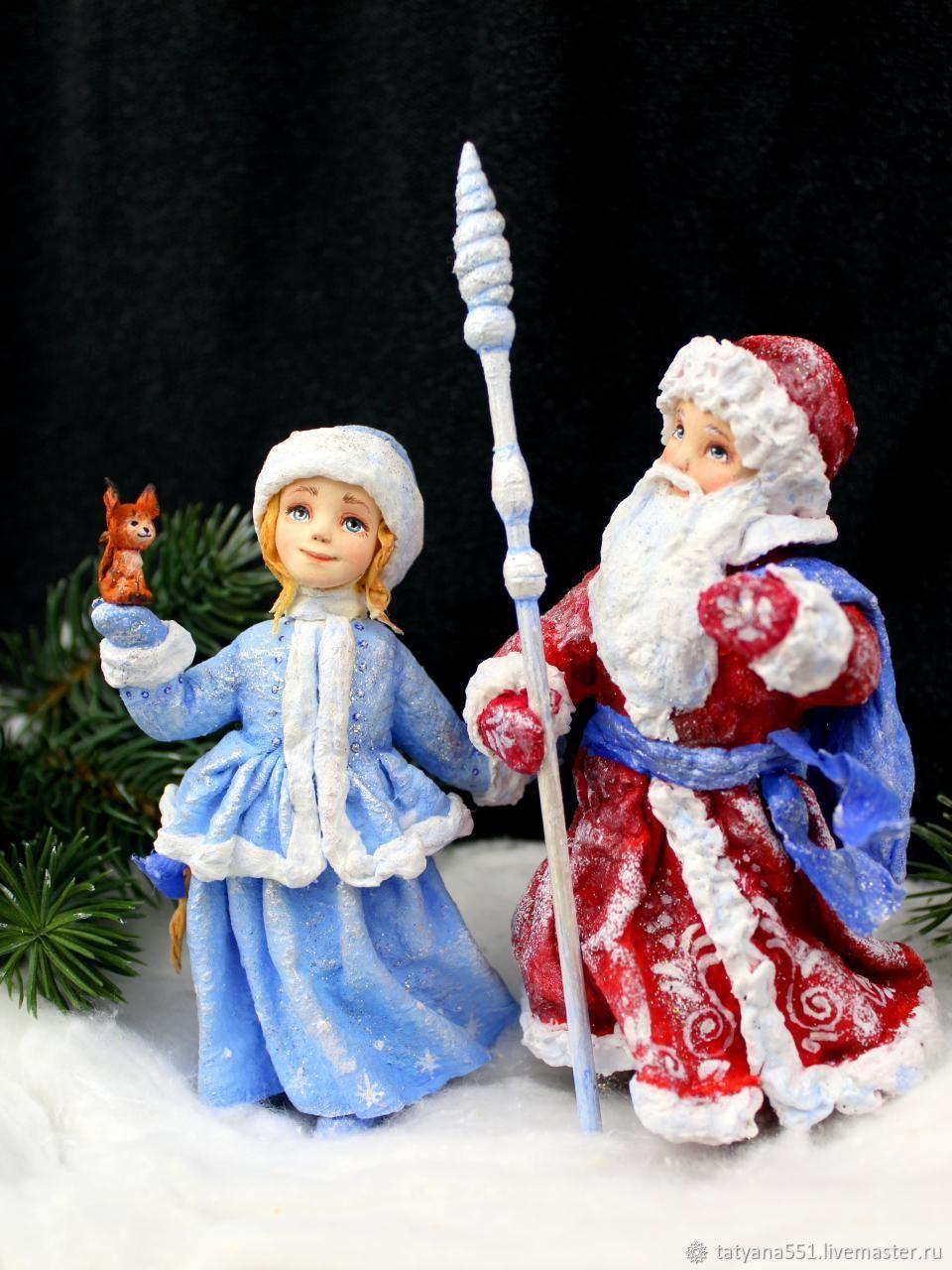 Елочные игрушки Дед Мороз и Снегурочка, Украшения, Днепр, Фото №1