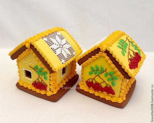 Кулинарные сувениры ручной работы. Ярмарка Мастеров - ручная работа. Купить Пряничный домик Осенняя рябина. Handmade. Желтый