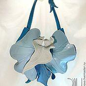Сумки и аксессуары ручной работы. Ярмарка Мастеров - ручная работа Орхидея NEW голубая. Handmade.